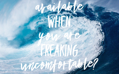 What's available when you are Freaking Uncomfortable?
