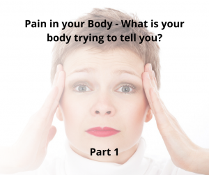Pain in your Body – What is your Body trying to tell you?